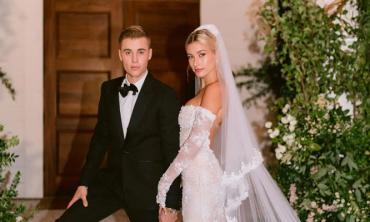Hailey Bieber reveals she wore Kim Kardashian's brand Skims under her wedding dress