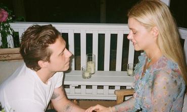 Brooklyn Beckham showers love on fiancée Nicola Peltz as she wraps shooting of her new film
